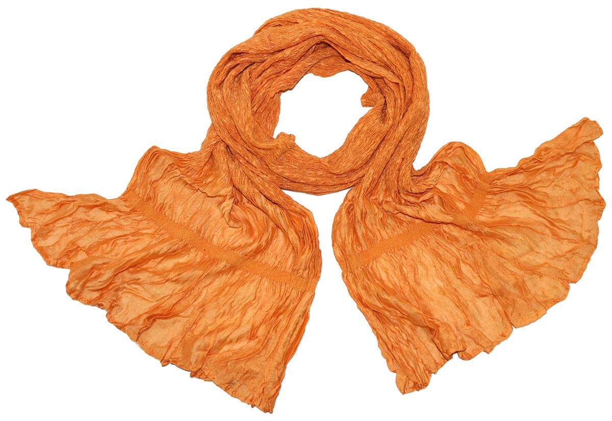 Шарф женский Ethnica, цвет: оранжевый. 788180. Размер 25 см х 170 см788180Женский шарф Ethnica, изготовленный из 100% шелка, подчеркнет вашу индивидуальность. Благодаря своему составу, он легкий, мягкий и приятный на ощупь. Изделие выполнено в однотонном дизайне.Такой аксессуар станет стильным дополнением к гардеробу современной женщины.