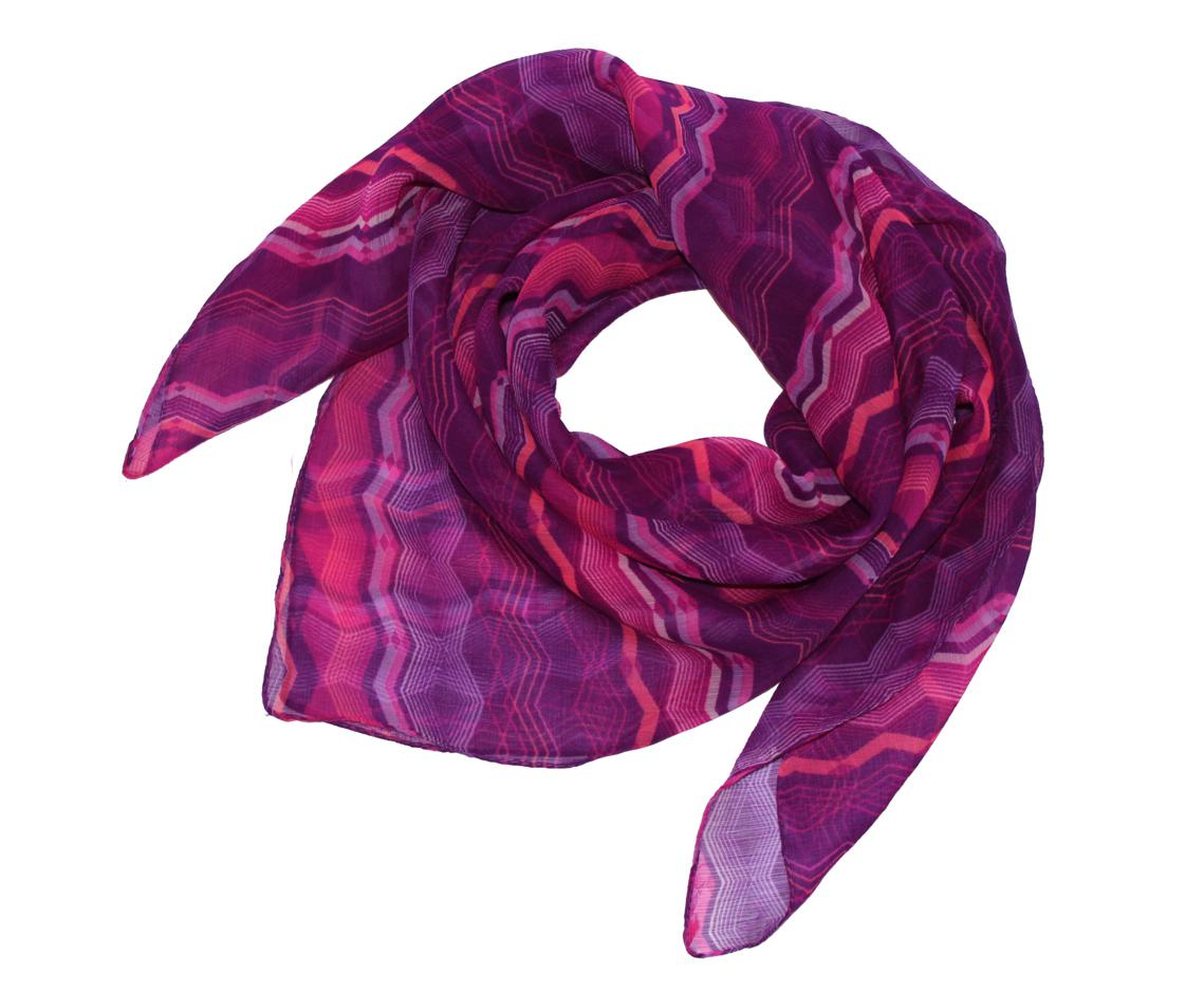 Платок женский Ethnica, цвет: фиолетовый, розовый. 524040н. Размер 90 см х 90 см524040н_67Платок Ethnica, выполненный из вискозы, гармонично дополнит образ современной женщины. Благодаря своему составу, он легкий, мягкий и приятный на ощупь. Модель оформлена оригинальным принтом. Классическая квадратная форма позволяет носить платок на шее, украшать им прическу или декорировать сумочку. С таким платком вы всегда будете выглядеть женственно и привлекательно.