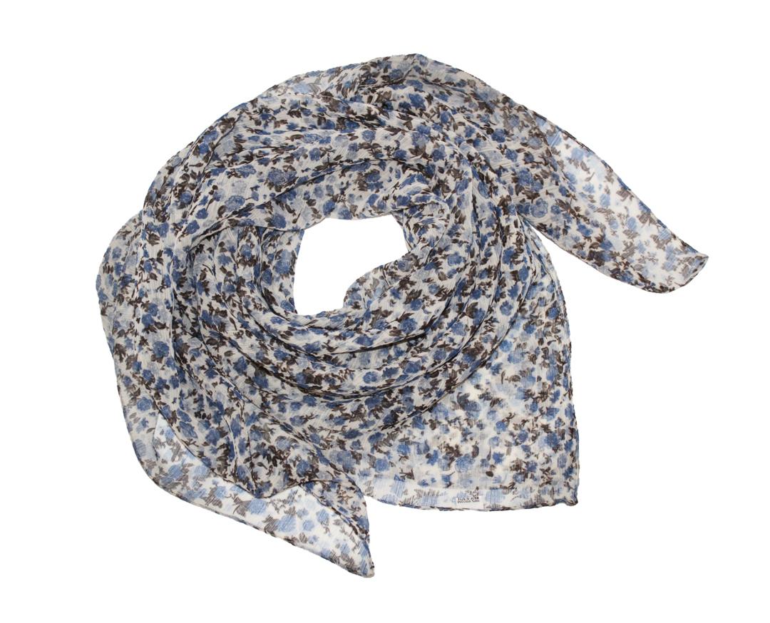 Платок женский Ethnica, цвет: белый, синий, черный. 524040н. Размер 90 см х 90 см524040н_78Платок Ethnica, выполненный из вискозы, гармонично дополнит образ современной женщины. Благодаря своему составу, он легкий, мягкий и приятный на ощупь. Модель оформлена оригинальным принтом. Классическая квадратная форма позволяет носить платок на шее, украшать им прическу или декорировать сумочку. С таким платком вы всегда будете выглядеть женственно и привлекательно.