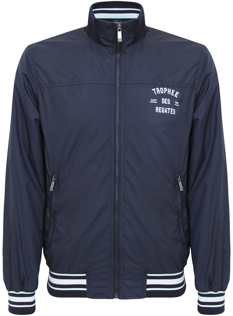 Куртка мужская oodji, цвет: темно-синий. 1L511040M/34210N/7900N. Размер M (50-182)1L511040M/34210N/7900NКуртка
