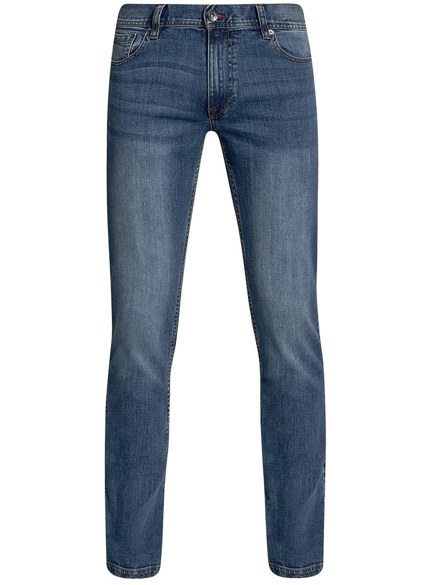 Джинсы мужские oodji Basic, цвет: синий джинс. 6B120048M/46627/7500W. Размер 33-32 (52-32)6B120048M/46627/7500WМужские джинсы oodji Basic выполнены из высококачественного материала. Модель средней посадки по поясу застегивается на пуговицу и имеют ширинку на застежке-молнии, а также шлевки для ремня. Джинсы имеют классический пятикарманный крой: спереди - два втачных кармана и один маленький накладной, а сзади - два накладных кармана.