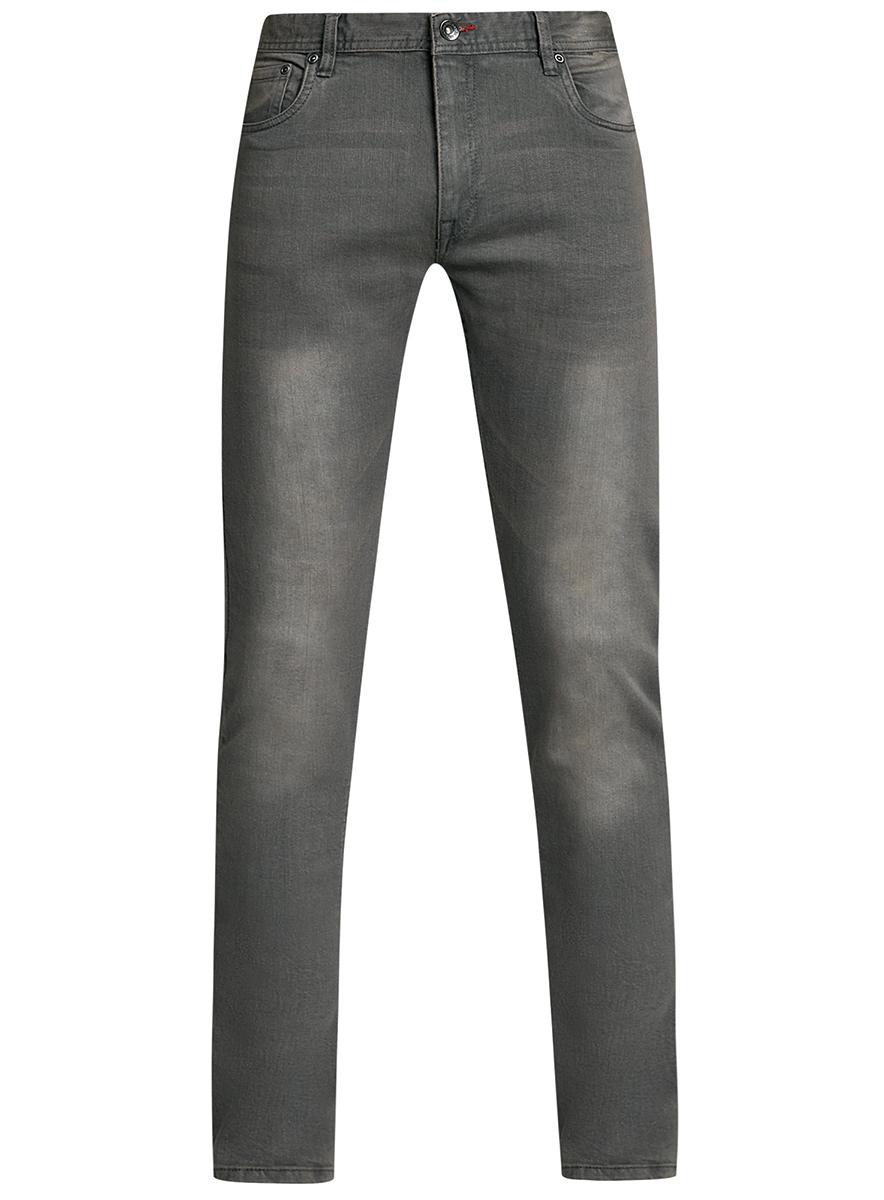 Джинсы мужские oodji Basic, цвет: серый джинс. 6B120047M/46627/2300W. Размер 34-32 (54-32)6B120047M/46627/2300WМужские джинсы oodji Basic выполнены из высококачественного материала. Модель-слим средней посадки по поясу застегивается на пуговицу и имеют ширинку на застежке-молнии, а также шлевки для ремня. Джинсы имеют классический пятикарманный крой: спереди - два втачных кармана и один маленький накладной, а сзади - два накладных кармана.