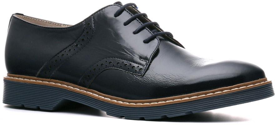 Полуботинки женские Ralf Ringer Letty, цвет: темно-синий. 882101ТС. Размер 41882101ТСБотинки Letty выглядят дорого и респектабельно. Утолщенная ТЭП подошва делает их по-настоящему демисезонными. Низкий каблук, оригинальный мысок шнуровка в 4 ряда, дозированная перфорация на берцах выглядят по-особенному стильно, не лишая обувь женственности. Модель способна составить конкуренцию представителям линии Business.