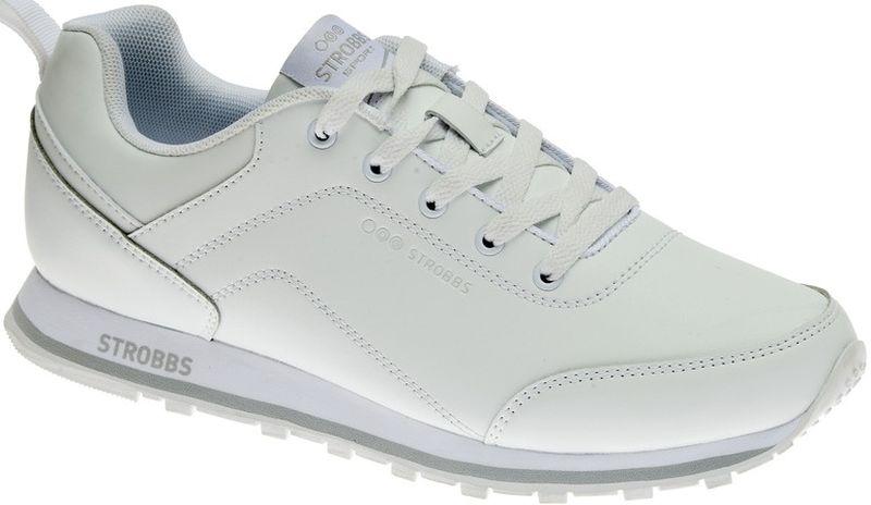 Кроссовки мужские Strobbs, цвет: белый. C2450-6. Размер 44C2450-6Стильные мужские кроссовки Strobbs отлично подойдут для активного отдыха и повседневной носки. Верх модели выполнен из искусственной кожи. Удобная шнуровка надежно фиксирует модель на стопе. Подошва обеспечивает легкость и естественную свободу движений. Мягкие и удобные, кроссовки превосходно подчеркнут ваш спортивный образ и подарят комфорт.