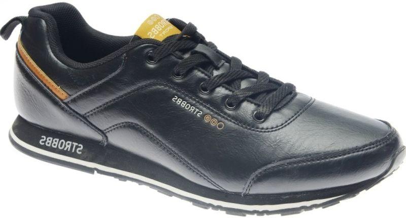 Кроссовки мужские Strobbs, цвет: черный. C2450-3. Размер 41C2450-3Стильные мужские кроссовки Strobbs отлично подойдут для активного отдыха и повседневной носки. Верх модели выполнен из комбинации искусственной и натуральной кожи. Удобная шнуровка надежно фиксирует модель на стопе. Подошва обеспечивает легкость и естественную свободу движений. Мягкие и удобные, кроссовки превосходно подчеркнут ваш спортивный образ и подарят комфорт.