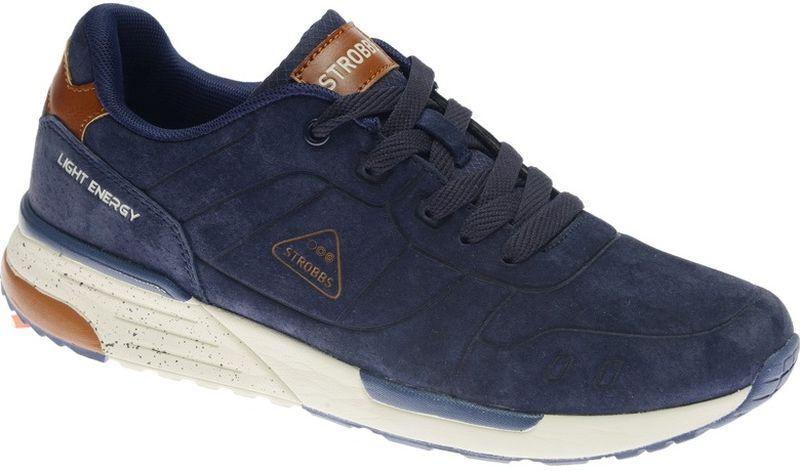 Кроссовки мужские Strobbs, цвет: синий. C2433-2. Размер 41C2433-2Стильные мужские кроссовки Strobbs отлично подойдут для активного отдыха и повседневной носки. Верх модели выполнен из натуральной замши. Удобная шнуровка надежно фиксирует модель на стопе. Подошва обеспечивает легкость и естественную свободу движений. Мягкие и удобные, кроссовки превосходно подчеркнут ваш спортивный образ и подарят комфорт.