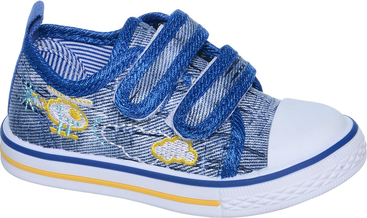 Кеды для мальчика Tom&Miki, цвет: синий. B-0917. Размер 22B-0917Кеды для мальчика Tom&Miki изготовлены из качественного текстиля. Модель оформлена вышивкой и дополнена на мыске практичной прорезиненной накладкой. Липучки надежно зафиксируют обувь на ноге. Мягкая подкладка выполнена из кожи и текстиля. Такие кеды - отличный вариант на каждый день.