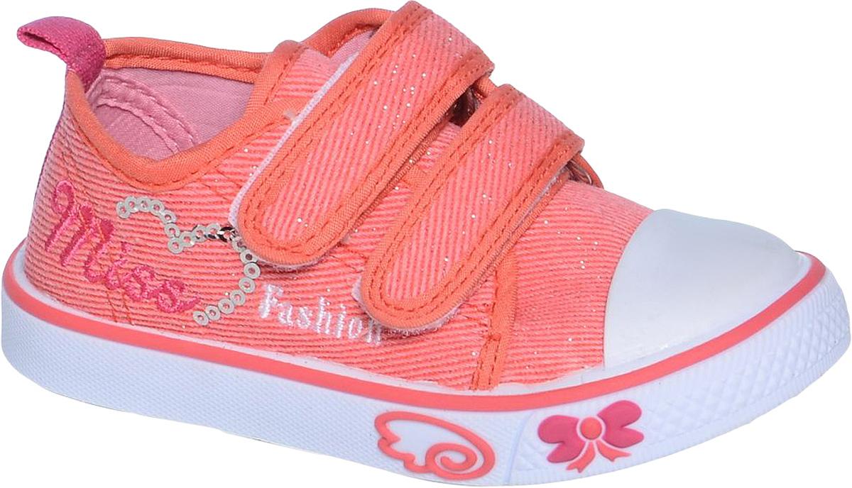 Кеды для девочки Tom&Miki, цвет: красный. B-0922. Размер 21B-0922Кеды для девочки Tom&Miki изготовлены из качественного текстиля. Модель оформлена оригинальным принтом и дополнена на мыске практичной прорезиненной накладкой. Липучки надежно зафиксируют обувь на ноге. Мягкая подкладка выполнена из кожи и текстиля. Такие кеды - отличный вариант на каждый день.