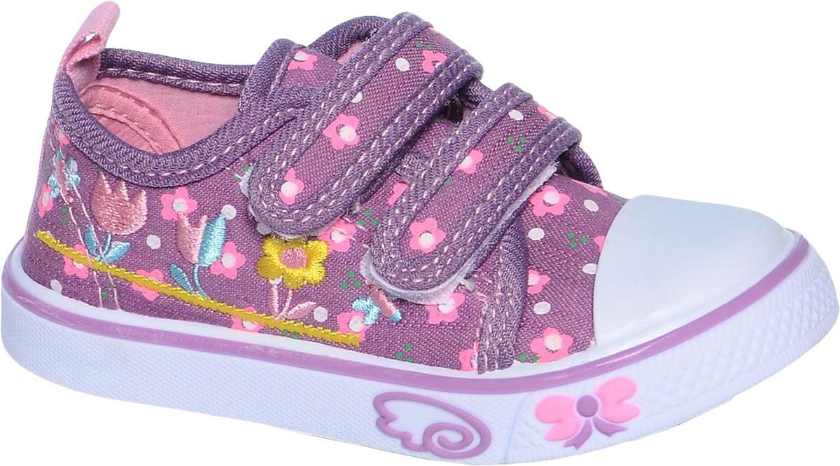 Кеды для девочки Tom&Miki, цвет: фиолетовый. B-0923. Размер 22B-0923Кеды для девочки Tom&Miki изготовлены из качественного текстиля. Модель оформлена оригинальным принтом и дополнена на мыске практичной прорезиненной накладкой. Липучки надежно зафиксируют обувь на ноге. Мягкая подкладка выполнена из кожи и текстиля. Такие кеды - отличный вариант на каждый день.