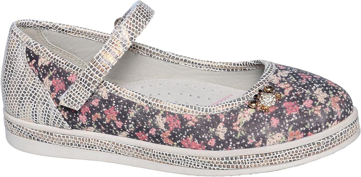Туфли для девочки Tom&Miki, цвет: черный, белый, розовый. B-1027. Размер 33B-1027-BСтильные туфли для девочки Tom&Miki выполнены из качественной искусственной кожи. Ремешок с липучкой обеспечит оптимальную посадку модели на ноге. Кожаная стелька с супинатором придаст максимальный комфорт при движении. Носки обуви оформлены оригинальным декоративным элементом.