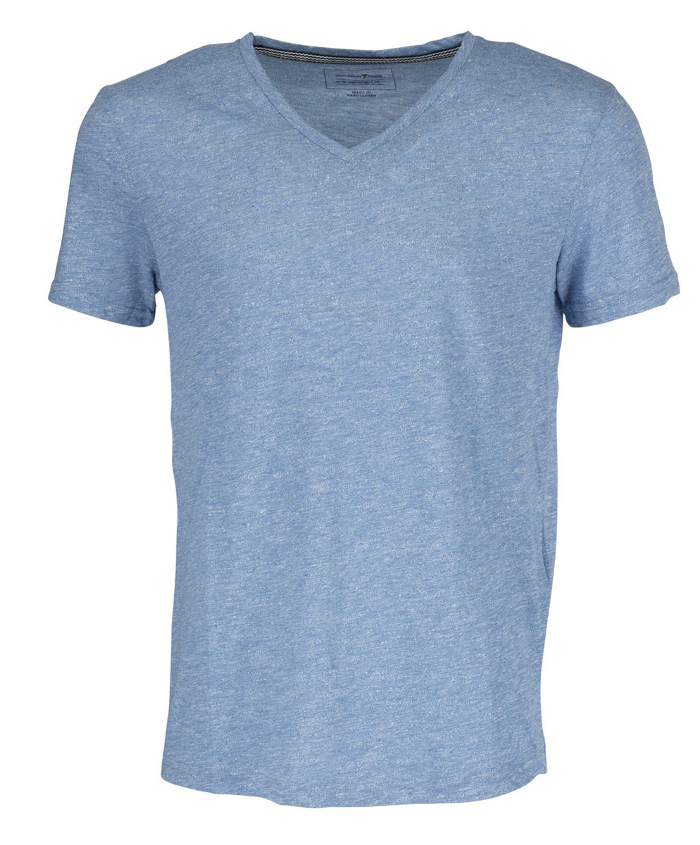 Футболка мужская Tom Tailor Denim, цвет: голубой меланж. 1036929.09.12_6695. Размер L (50)1036929.09.12_6695Мужская футболка Tom Tailor Denim выполнена из высококачественного материала. Модель с V-образным вырезом горловины и короткими рукавами.Такая футболка станет стильным дополнением к вашему гардеробу, она подарит вам комфорт в течение всего дня!