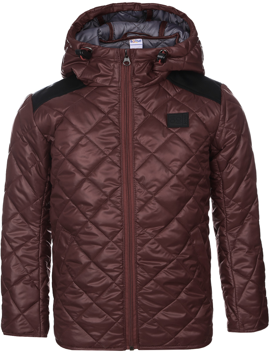 Куртка для мальчика Boom!, цвет: красный. 70036_BOB_вар.1. Размер 104, 3-4 года70036_BOB_вар.1Стильная куртка для мальчика Boom! изготовлена из 100% полиэстера. В качестве утеплителя используется синтепон - 100% полиэстер. Куртка с несъемным капюшоном застегивается на пластиковую застежку-молнию с защитой подбородка. Капюшон регулируется при помощи эластичного шнурка со стопперами. По бокам предусмотрены два втачных кармана.