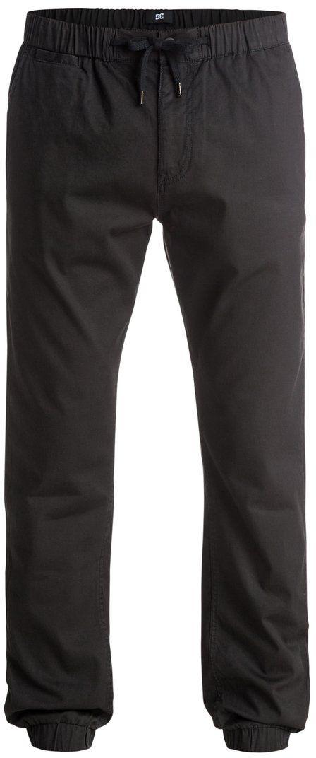 Брюки мужские DC Shoes, цвет: черный. EDYNP03083-KVJ0. Размер XXL (54/56)EDYNP03083-KVJ0Брюки мужские DC Shoes изготовлены из ткани бедфорд-корд (100% хлопок). Модель имеет прямой крой. Брюки застегиваются на ширинку с молнией и пуговицу в поясе. Пояс и низ брючин дополнен эластичной резинкой. Пояс дополнительно оснащен затягивающимся шнурком для комфортной посадки. Спереди расположены два скошенных вшитых кармана, сзади - плоские прорезные карманы на пуговице.