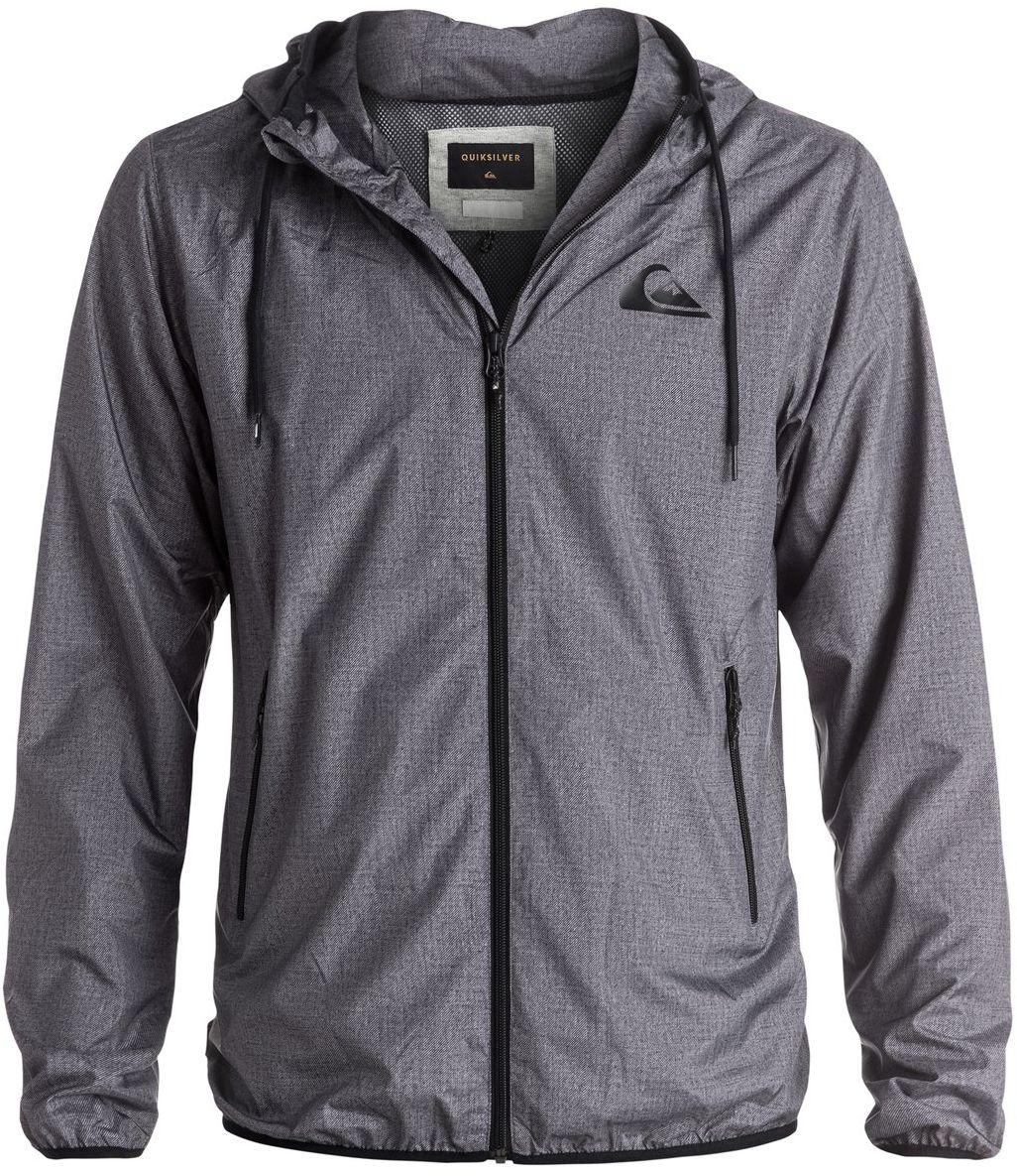 Куртка мужская Quiksilver, цвет: серый. EQYJK03238-KTFH. Размер L (50/52)EQYJK03238-KTFHМужская куртка для Quiksilver выполнена из полиэстера. Модель с длинными рукавами и капюшоном застегивается на застежку-молнию. Изделие имеет спереди два врезных кармана. Рукава и низ куртки дополнены эластичными резинками.