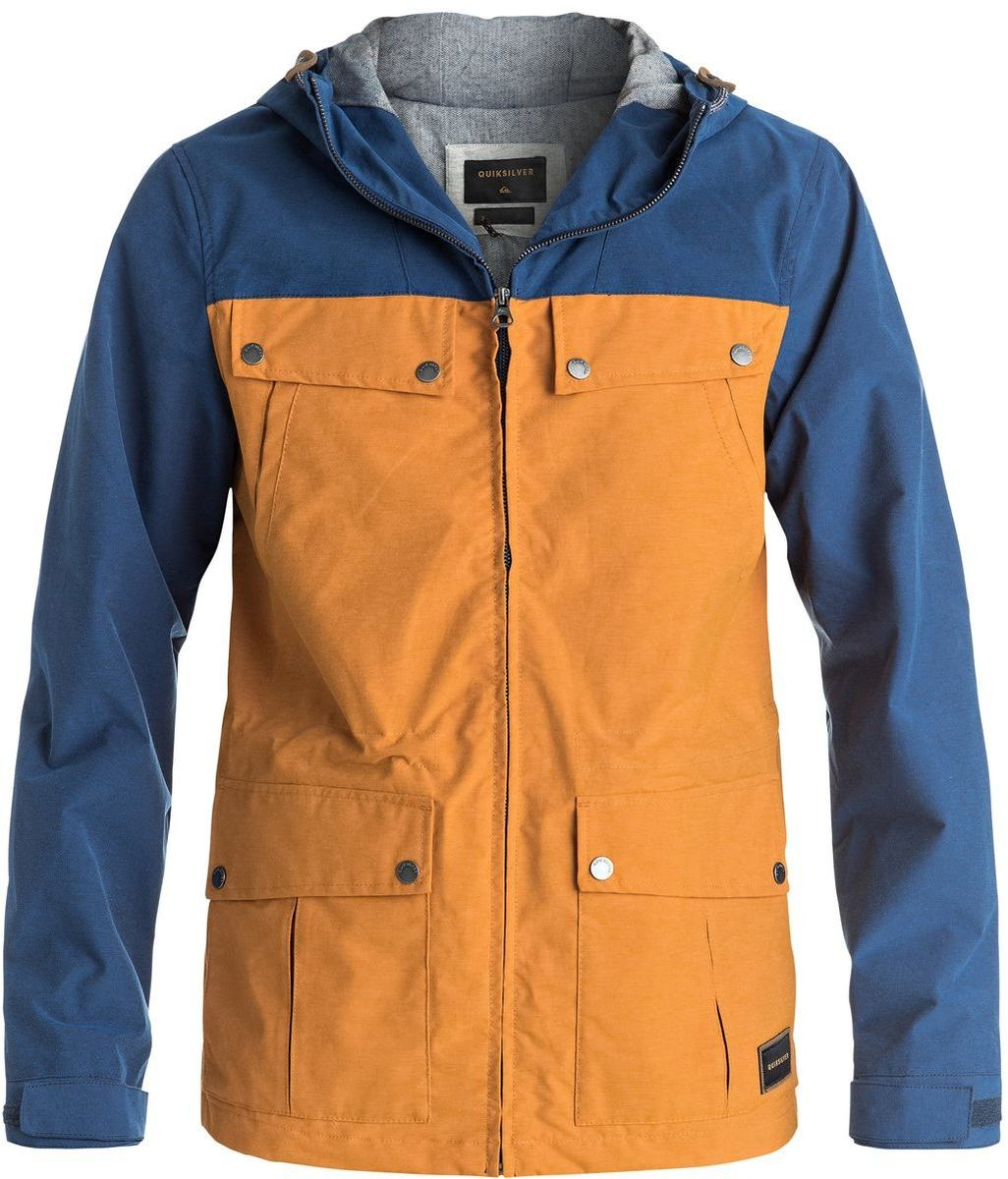 Куртка мужская Quiksilver, цвет: желтый, синий. EQYJK03292-NMVH. Размер M (48/50)
