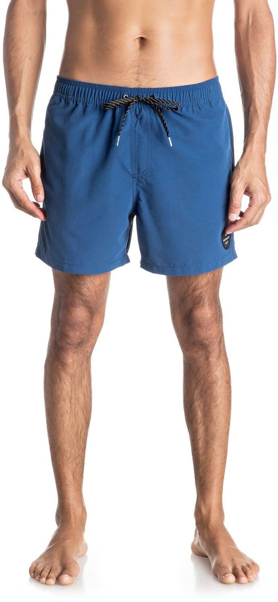 Шорты мужские Quiksilver, цвет: синий. EQYJV03200-BSW0. Размер L (52)EQYJV03200-BSW0Шорты мужские Quiksilver изготовлены из качественного полиэстера. Модель длиной выше колен выполнена с резинкой и утягивающим шнурком на талии. Изделие дополнено карманами.