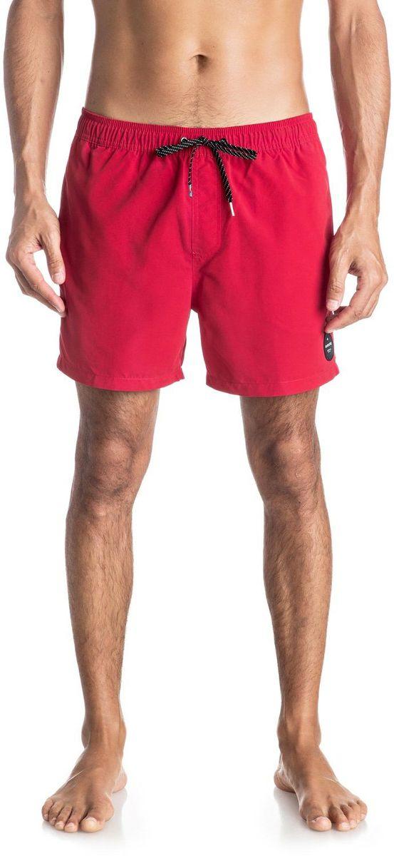 Шорты мужские Quiksilver, цвет: красный. EQYJV03200-RQR0. Размер M (48)EQYJV03200-RQR0Шорты мужские Quiksilver изготовлены из качественного полиэстера. Модель длиной выше колен выполнена с резинкой и утягивающим шнурком на талии. Изделие дополнено карманами.