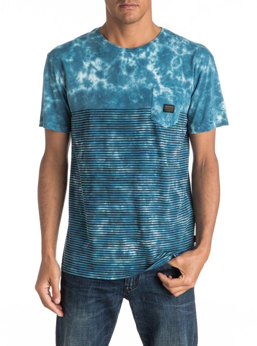 Футболка мужская Quiksilver, цвет: голубой. EQYKT03505-BSW0. Размер XXL (54/56)EQYKT03505-BSW0Мужская футболка Quiksilver изготовлена из качественного материала. Модель выполнена с круглой горловиной и короткими рукавами. На груди модель дополнена карманом.