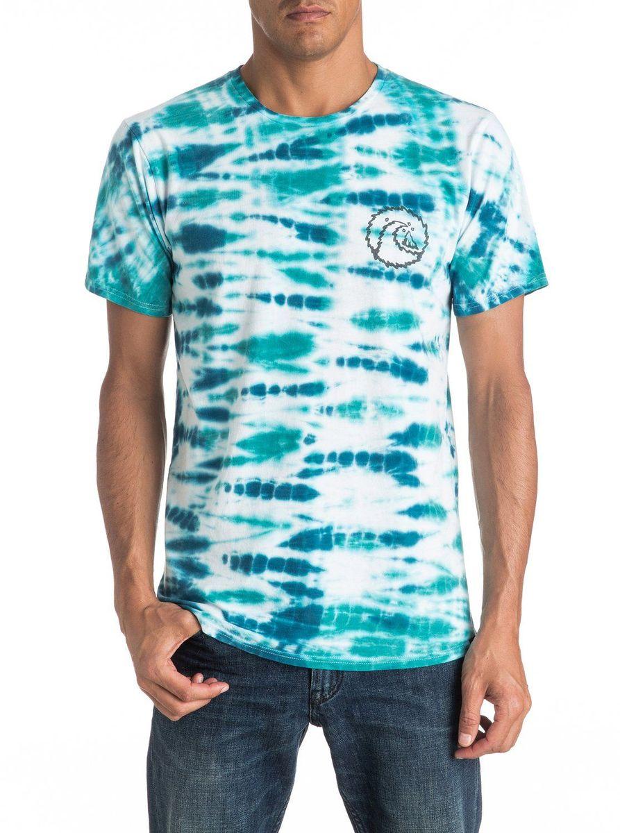 Футболка мужская Quiksilver, цвет: белый, голубой. EQYKT03525-WBB0. Размер XXL (54/56)EQYKT03525-WBB0Мужская футболка Quiksilver изготовлена из качественного материала. Модель выполнена с круглой горловиной и короткими рукавами.