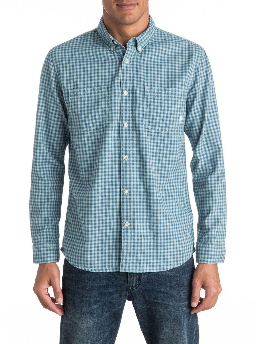 Рубашка мужская Quiksilver, цвет: голубой. EQYWT03440-BQK1. Размер M (48/50)EQYWT03440-BQK1Мужская рубашка Quiksilver с длинными рукавами выполнена из качественного хлопка. Изделие застегивается на пуговицы, имеются нагрудные накладные карманы. Воротник и рукава дополнены пуговицами, низ изделия слегка закруглен.