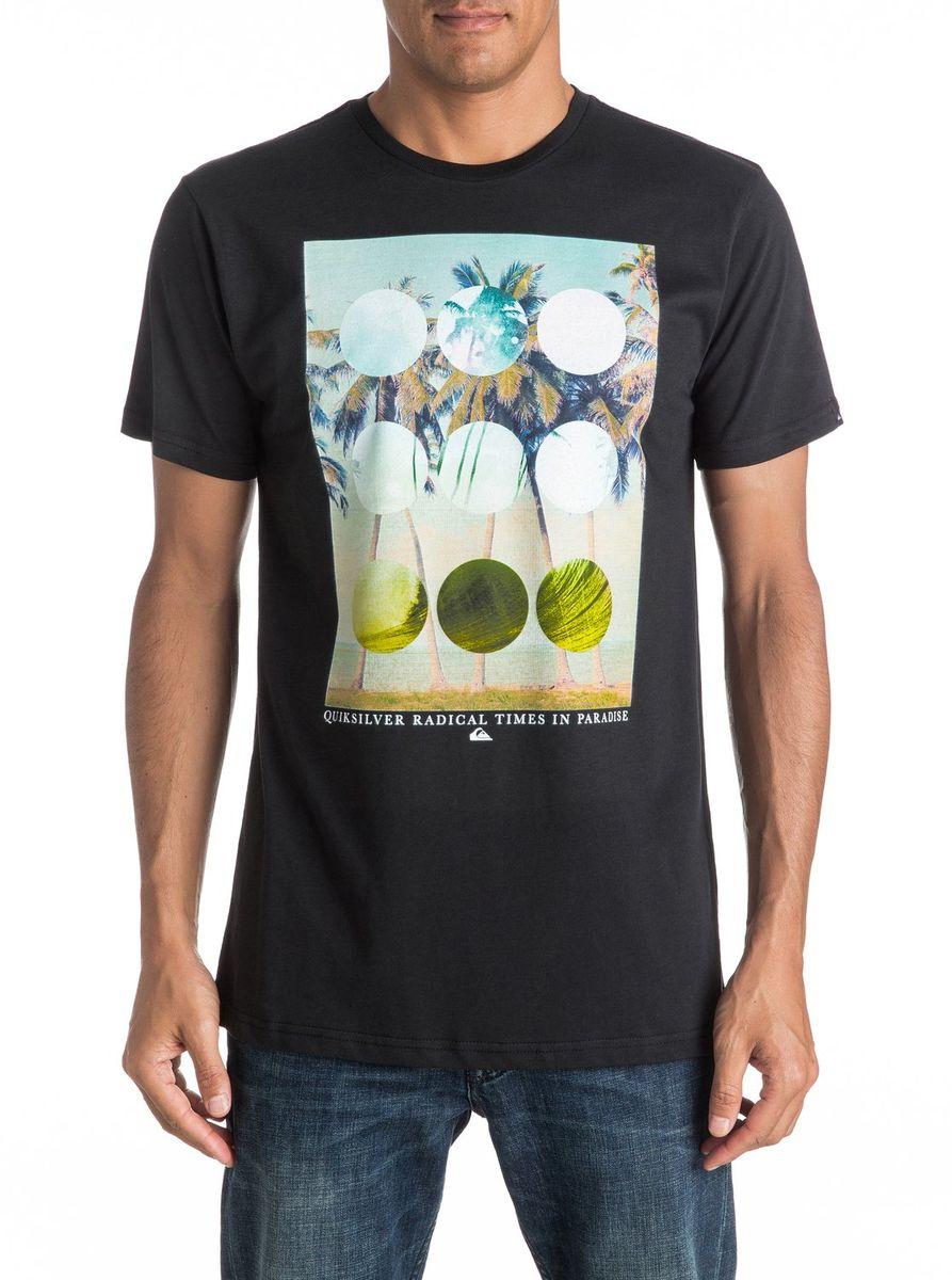 Футболка мужская Quiksilver, цвет: черный. EQYZT04282-KVJ0. Размер L (50/52)EQYZT04282-KVJ0Мужская футболка Quiksilver изготовлена из качественного материала. Модель выполнена с круглой горловиной и короткими рукавами.