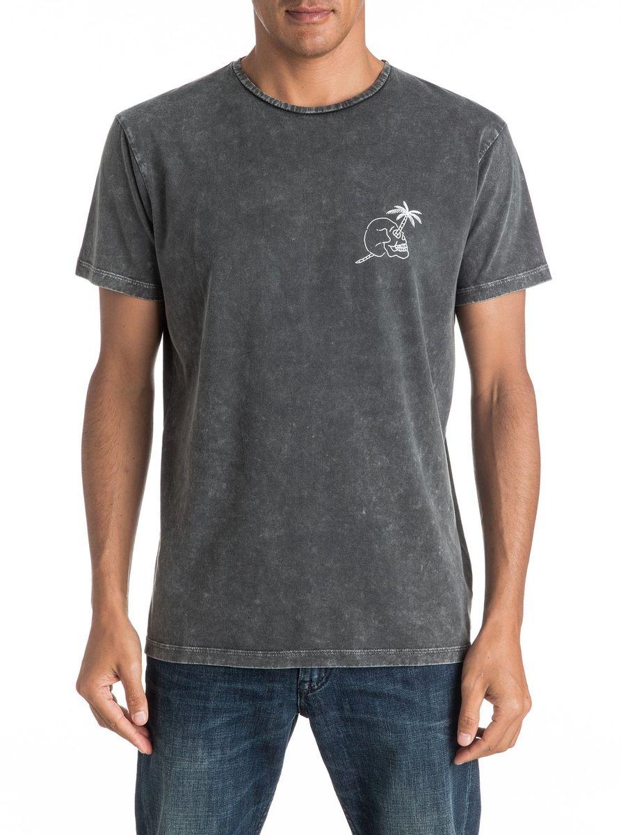 Футболка мужская Quiksilver, цвет: серый. EQYZT04292-KTA0. Размер M (48/50)EQYZT04292-KTA0Мужская футболка Quiksilver изготовлена из качественного натурального материала. Модель выполнена с круглой горловиной и короткими рукавами.