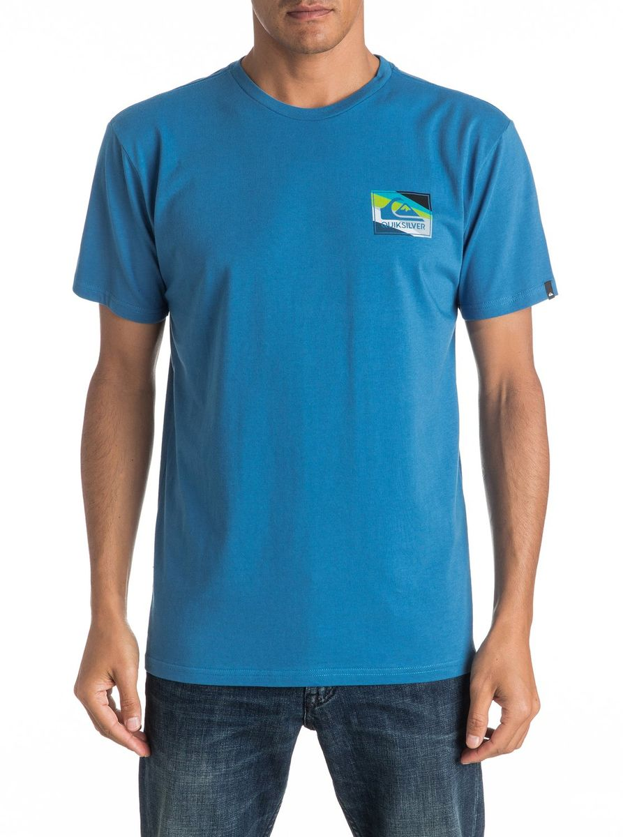 Футболка мужская Quiksilver, цвет: голубой. EQYZT04298-BYH0. Размер XXL (54/56)EQYZT04298-BYH0Мужская футболка Quiksilver изготовлена из качественного материала. Модель выполнена с круглой горловиной и короткими рукавами.