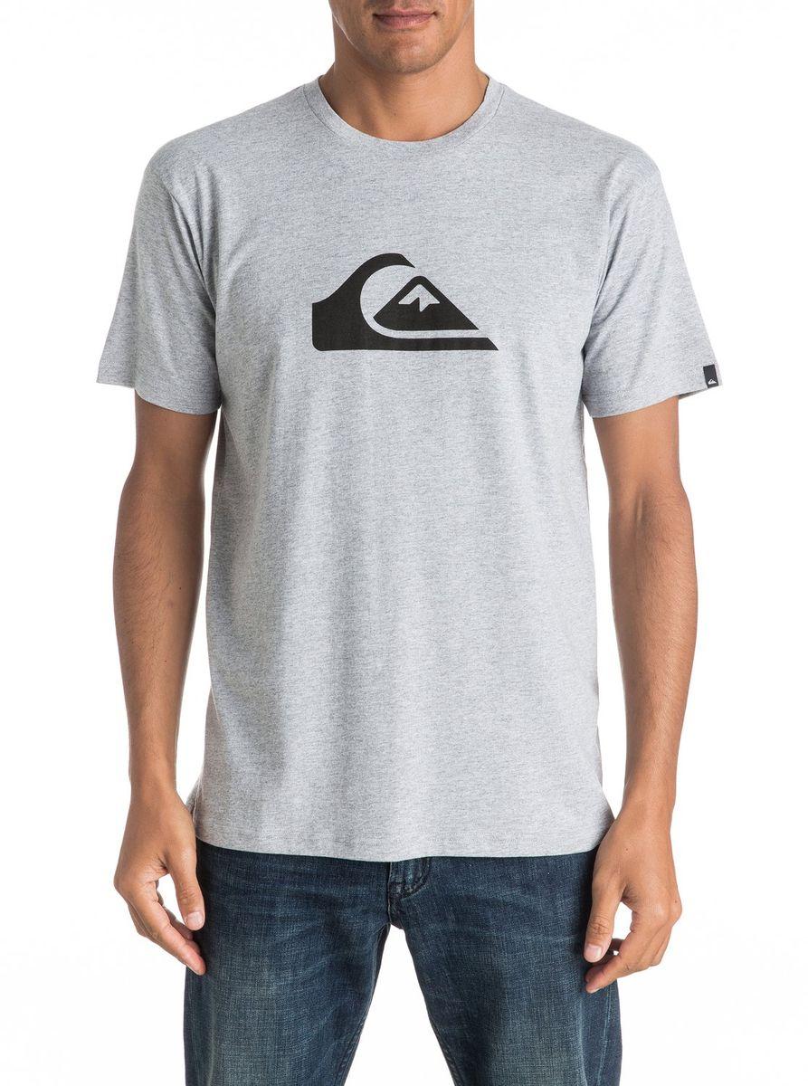 Футболка мужская Quiksilver, цвет: серый. EQYZT04302-SGRH. Размер M (48/50)EQYZT04302-SGRHМужская футболка Quiksilver изготовлена из качественного натурального хлопка. Модель выполнена с круглой горловиной и короткими рукавами.