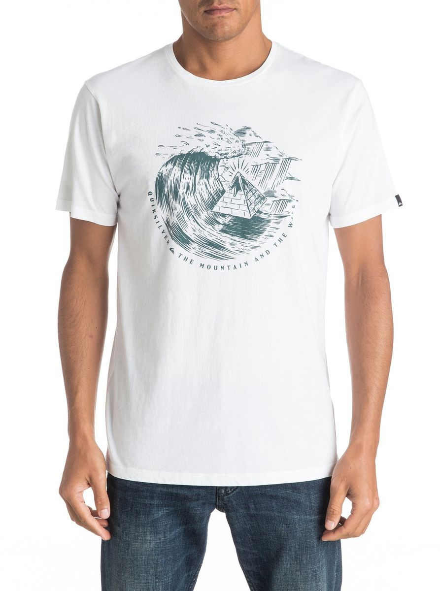 Футболка мужская Quiksilver, цвет: белый. EQYZT04323-WBB0. Размер M (48/50)EQYZT04323-WBB0Мужская футболка Quiksilver изготовлена из качественного натурального материала. Модель выполнена с круглой горловиной и короткими рукавами.