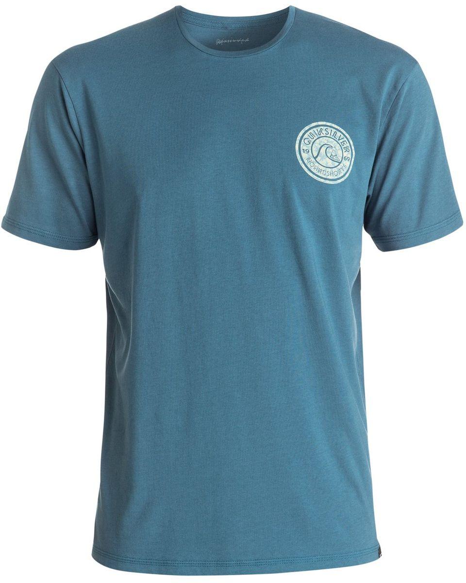 Футболка мужская Quiksilver, цвет: синий. EQYZT04329-BQK0. Размер L (52)EQYZT04329-BQK0Мужская футболка Quiksilver изготовлена из качественного натурального хлопка. Модель выполнена с круглой горловиной и короткими рукавами.