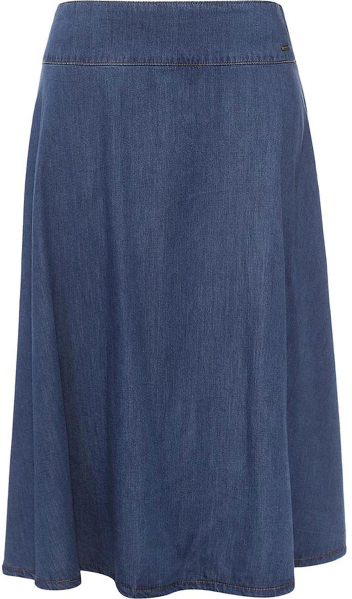 Юбка женская Finn Flare, цвет: синий. B17-12028_125. Размер XL (50)B17-12028_125Юбка женская Finn Flare выполнена из натурального хлопка. Модель длинной макси.