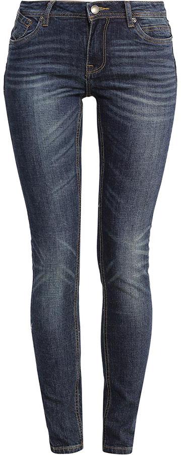 Джинсы женские Finn Flare, цвет: темно-синий. B17-15019_127. Размер 33-34 (50-34)B17-15019_127Стильные женские джинсы Finn Flare станут отличным дополнением к вашему гардеробу. Модель изготовлена из высококачественного хлопка с добавлением эластана, она великолепно пропускает воздух и обладает высокой гигроскопичностью. Застегиваются джинсы на пуговицу и ширинку на застежке-молнии. На поясе имеются шлевки для ремня. Эти модные и в тоже время удобные джинсы помогут вам создать оригинальный современный образ. В них вы всегда будете чувствовать себя уверенно и комфортно.