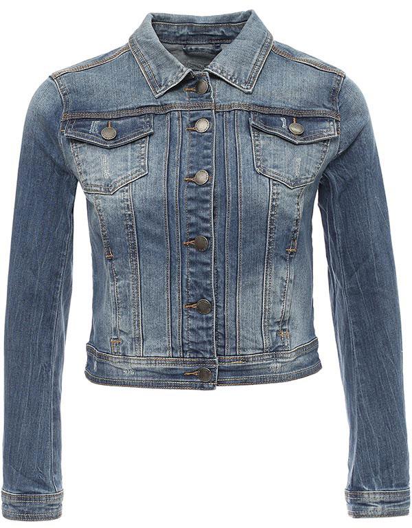 Куртка женская Finn Flare, цвет: синий. B17-15002_125. Размер L (48)B17-15002_125Куртка женская Finn Flare выполнена из хлопка и эластана. Модель с отложным воротником и длинными рукавами застегивается на пуговицы.