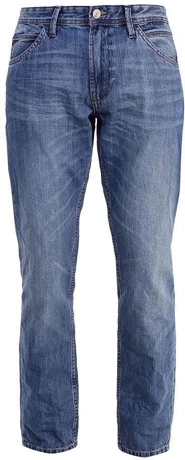 Джинсы мужские Tom Tailor Denim, цвет: синий. 6205038.01.12_1051. Размер 30-34 (46-34)6205038.01.12_1051Модные мужские джинсы Tom Tailor Denim выполнены из высококачественного 100% хлопка. Джинсы прямой модели имеют заниженную талию. Застегиваются на пуговицу в поясе и ширинку на молнии. Имеются шлевки для ремня. Спереди расположены два прорезных кармана и один небольшой накладной карман, а сзади - два накладных кармана.