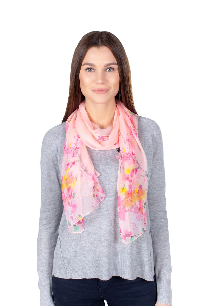 Шарф женский Sophie Ramage, цвет: розовый. YY-11708-15. Размер 50 см х 160 смYY-11708-15Стильный шарфик Sophie Ramage изготовлен из качественной смесовой ткани. Изделие оформлено оригинальным принтом.