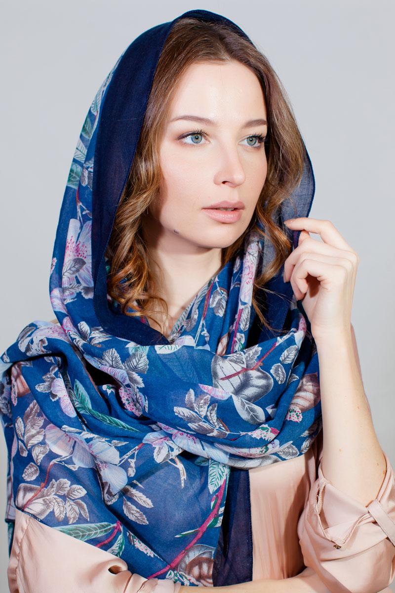 Палантин Sophie Ramage, цвет: синий, белый, розовый. BT-11701-14. Размер 90 см х 180 смBT-11701-14Стильный палантин Sophie Ramage изготовлен из модала и шелка. Изделие оформлено оригинальным принтом.