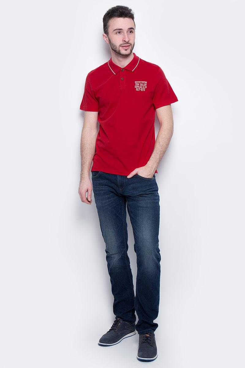 Поло мужское Tom Tailor, цвет: красный. 1531037.00.10_4534. Размер L (50)1531037.00.10_4534Мужская футболка-поло Tom Tailor выполнена из 100% хлопка. Модель с отложным воротником, застегивающимся на пуговицы, и стандартными короткими рукавами. Футболка дополнена оригинальной вышитой надписью.