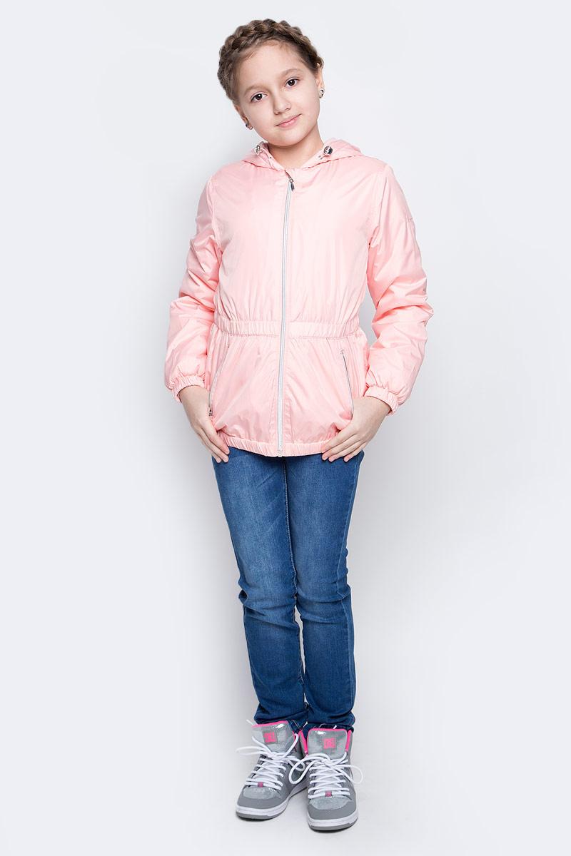 Куртка для девочки Sela, цвет: пастельно-розовый. CWB-626/111-7112. Размер 140, 10 летCWB-626/111-7112Стильная куртка для девочки Sela отлично подойдет для прохладной весенней погоды. Верх куртки выполнен из полиэстера. Подкладка на спинке и груди изготовлена из флиса, в рукавах - гладкий полиэстер для легкости одевания. Модель застегивается на застежку-молнию с защитой от прищемления подбородка. Куртка имеет длинные рукава и втачной капюшон с утяжкой по краю. Низ куртки, манжеты рукавов и талия дополнены резинками для лучшего прилегания. С лицевой стороны расположены два прорезных кармана на молнии. Модель дополнена светоотражающими элементами для безопасности в темное время суток.