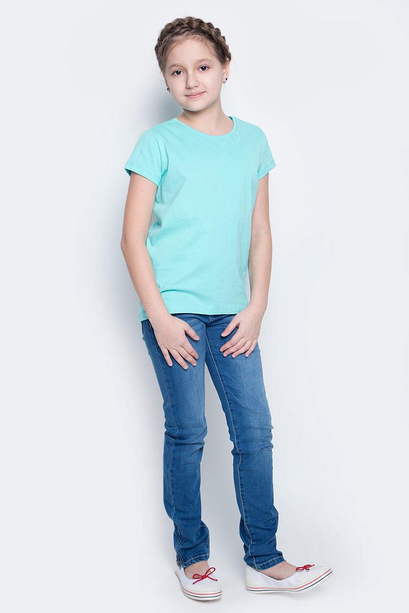 Футболка для девочки Sela, цвет: мятный. Ts-611/341-7141. Размер 122, 7 летTs-611/341-7141Футболка для девочки Sela изготовлена из высококачественного натурального хлопка. Модель с короткими рукавами и круглым вырезом горловины имеет однотонную расцветку.