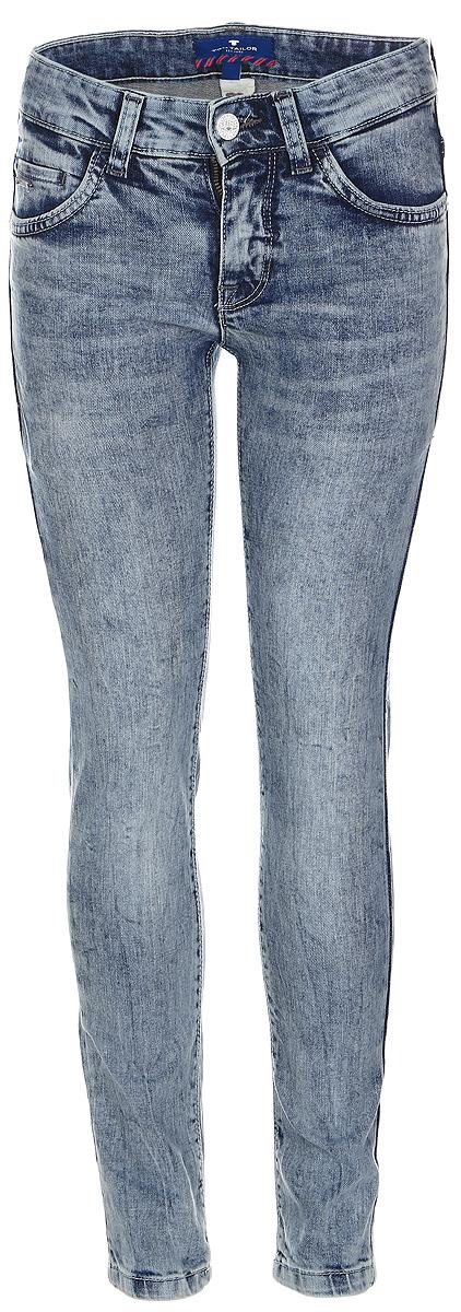Джинсы для мальчика Tom Tailor, цвет: серо-синий. 6205488.00.30_1000. Размер 1766205488.00.30_1000Стильные джинсы для мальчика Tom Tailor, изготовленные из эластичного хлопка, они необычайно мягкие и приятные на ощупь, не сковывают движения малышки и позволяют коже дышать.Джинсы скинни застегиваются в поясе на металлическую пуговицу, также имеются шлевки для ремня и ширинка на металлической застежке-молнии. С внутренней стороны пояс регулируется резинкой на пуговицах. Модель спереди дополнена двумя втачными и одним маленьким кармашком, а сзади - двумя накладными карманами.