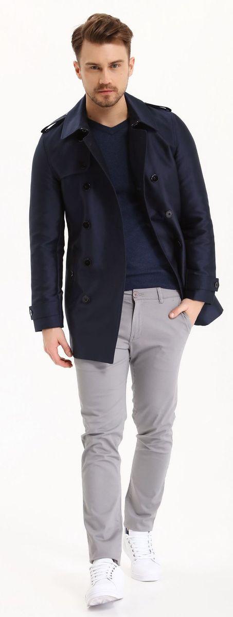 Джемпер мужской Top Secret, цвет: синий. SSW2116NIS. Размер XXL (52)SSW2116NISДжемпер мужской Top Secret выполнен из вискозы полиамида и альпаки. Модель с V-образным вырезом горловины и длинными рукавами.