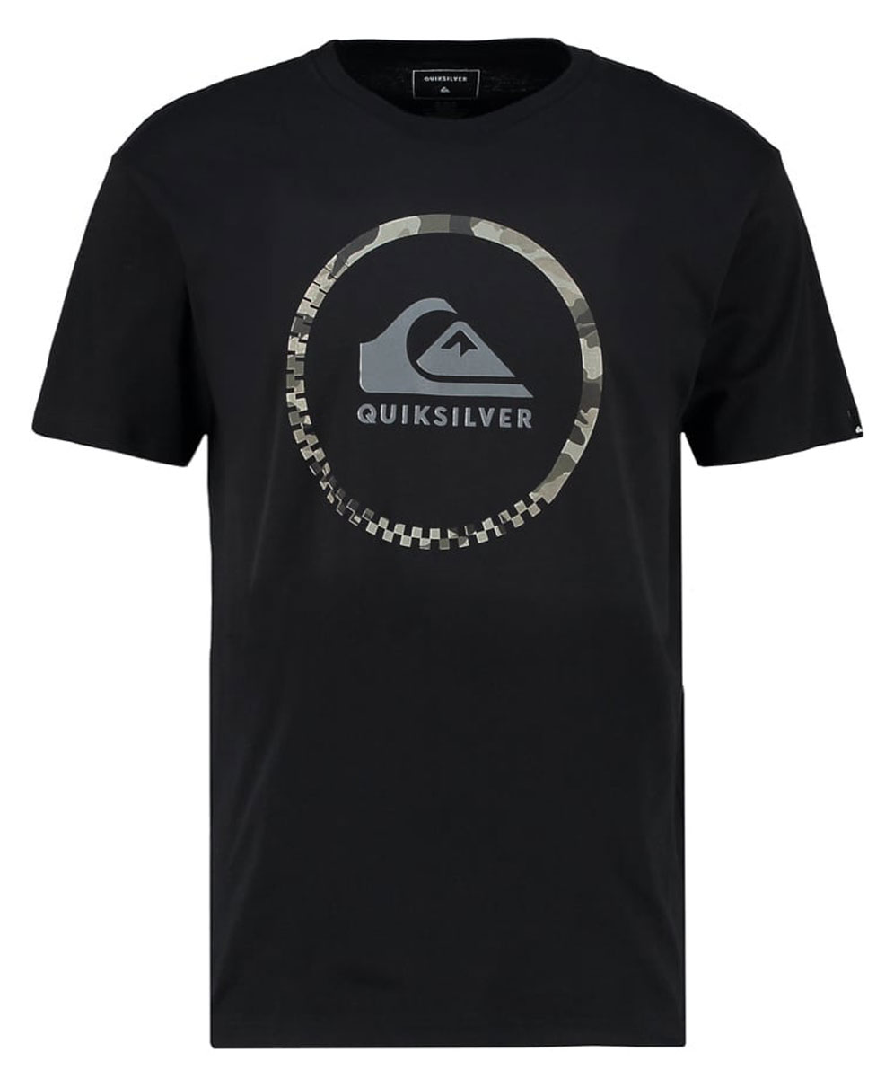 Футболка мужская Quiksilver, цвет: черный. EQYZT04285-KVJ0. Размер M (50)EQYZT04285-KVJ0Мужская футболка Quiksilver изготовлена из качественного материала. Модель выполнена с круглой горловиной и короткими рукавами.