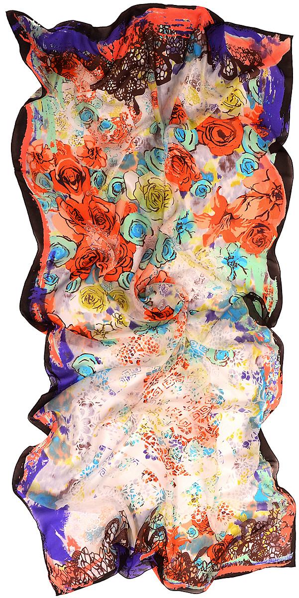 Платок женский Laccom, цвет: мультиколор. 3106. Размер 70 см х 70 см3106XСтильный платок Laccom изготовлен из шелка. Модель оформлена оригинальным принтом. Изделия Laccom приятные на ощупь и подойдут к любому стилю.