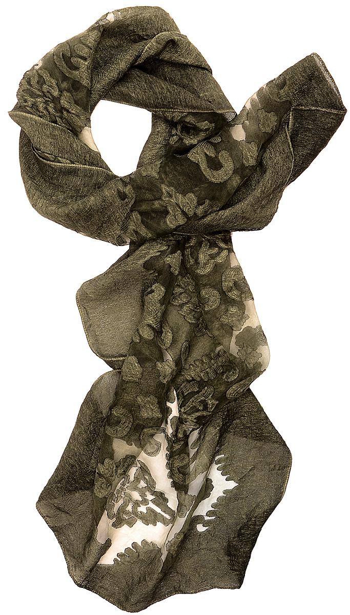 Палантин Laccom, цвет: серо-зеленый. 3205. Размер 170 см х 70 см3205EСтильный палантин Laccom изготовлен из вискозы и шелка. Изделие оформлено прозрачными вставками. Изделия Laccom приятные на ощупь и подойдут к любому стилю.