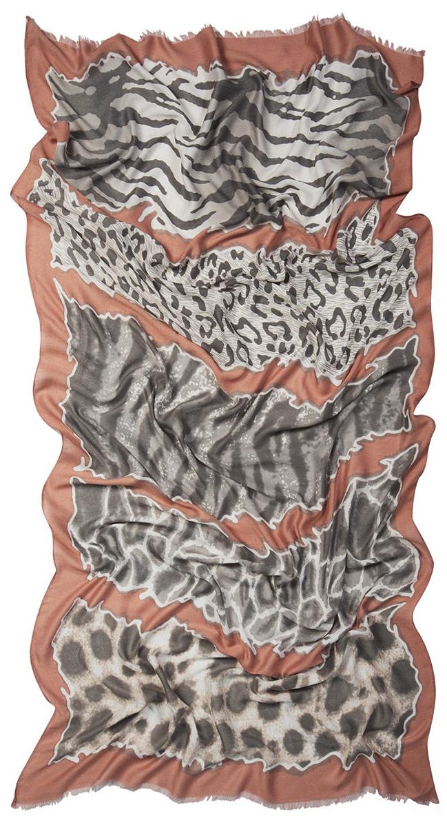 Палантин Laccom, цвет: коралловый, белый, серый. 3214. Размер 200 см х 110 см3214SСтильный палантин Laccom изготовлен из вискозы и полиэстера. Модель оформлена оригинальным принтом и короткой бахромой. Изделия Laccom приятные на ощупь и подойдут к любому стилю.
