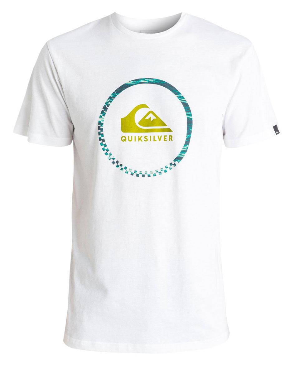 Футболка мужская Quiksilver, цвет: белый. EQYZT04285-WBB0. Размер XXL (56)EQYZT04285-WBB0Мужская футболка Quiksilver изготовлена из качественного материала. Модель выполнена с круглой горловиной и короткими рукавами.