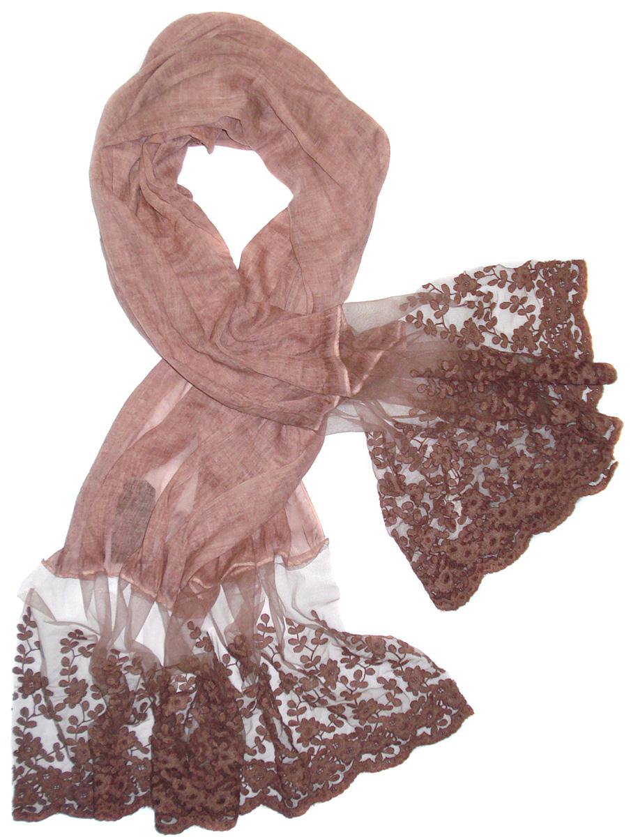Палантин Laccom, цвет: розовый. 3217. Размер 190 см х 70 см3217SСтильный палантин Laccom изготовлен из вискозы и полиэстера. Модель оформлена рисунком с прозрачными мотивами. Изделия Laccom приятные на ощупь и подойдут к любому стилю.
