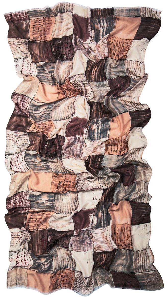 Палантин Laccom, цвет: коричневый, серый. 3220. Размер 220 см х 100 см3220SСтильный палантин Laccom изготовлен из вискозы. Модель оформлена оригинальным принтом и короткой бахромой. Изделия Laccom приятные на ощупь и подойдут к любому стилю.