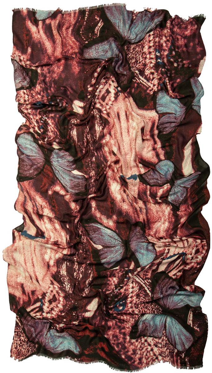 Палантин Laccom, цвет: розовый, серый, коричневый. 3222. Размер 200 см х 95 см3222SСтильный палантин Laccom изготовлен из вискозы. Модель оформлена короткой бахромой и оригинальным принтом. Изделия Laccom приятные на ощупь и подойдут к любому стилю.