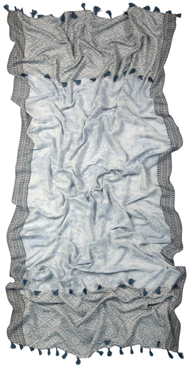 Палантин Laccom, цвет: серый, голубой. 3223. Размер 200 см х 95 см3223GСтильный палантин Laccom изготовлен из вискозы и шелка. Модель оформлена декоративными кисточками. Изделия Laccom приятные на ощупь и подойдут к любому стилю.